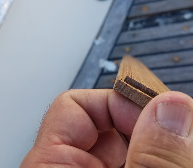 Replacing a board on the teak deck